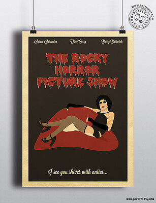 ROCKY HORROR PICTURE SHOW - Minimalist Movie Poster Posteritty Minimal Print Art