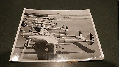 Early 1940s p38 test lightning fighter pursuit aircraft photo usaac prototype