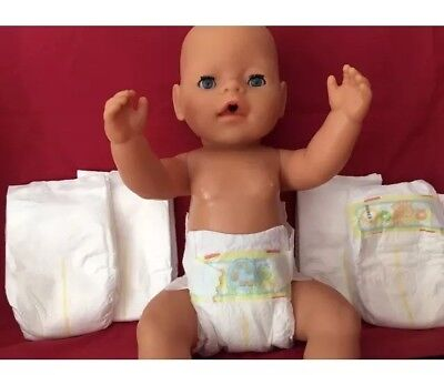 5 Dolls Disposable Nappies Fit Reborn Baby Born Baby Annabell Tiny Tears 15-20""