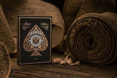 Artisan Black Edition Uspcc Bicycle Deck Playing Cards By Theory11 Magic Tricks