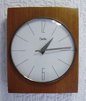 vintage 60s Teak wood wall clock Zentra