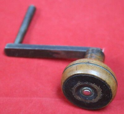 Antique English Longcase Winding Crank Key - Rare Georgian Tavern Wall Clock Key