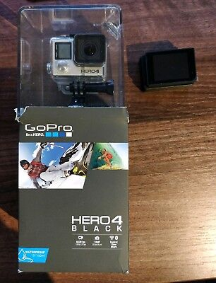 GoPro Hero4 Black Edition and Accessories (3 batteries and LCD screen)