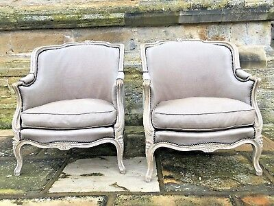 A pair of stunning Antique French Louis XV Gondola Bergere Armchair