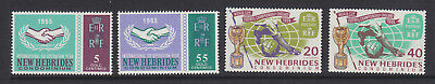 New Hebrides ICY, Churchill & World cup sets MNH