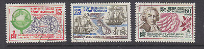 New Hebrides 1968 World Voyage mint and used sets