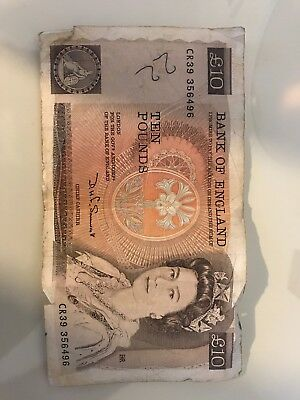 Bank Of England £10 Ten Pound Note. Page. 1970-1980. Old Banknote