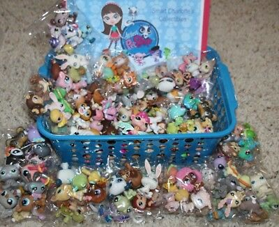 🌺Lot of 10 Random Littlest Pet Shop🌺 Animals LPS🐶 Dog😻Cat Authentic Retired