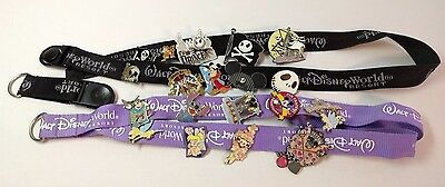 Disney world Trading Pins Lot 21 Assortment authentic pins + two resort lanyards