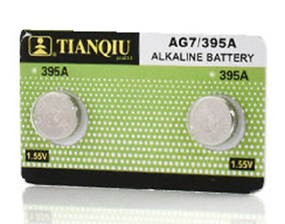 TWO (2X) AG7 395 SR927 195 LR927 1.5V Alkaline Coin Button Cell Watch Battery