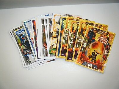 Lego Nexo Knights Minifigure Trading Cards X25 Joblot Bundle Golden Shinny