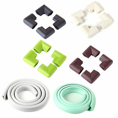 2X( 4pcs Bumper Corner Protectors by Table Edge Baby Safety Beige F8P6)