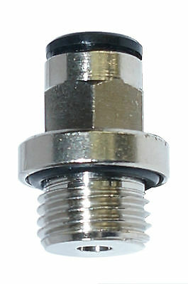 10 x Straight Push-In Fitting Screw-In Stud
