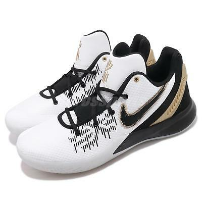 finest selection c3310 ff706 Nike Kyrie Flytrap II EP 2 White Black Gold Mens Basketball Shoes AO4438-170