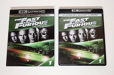 The Fast and the Furious - 4K UHD + Blu-ray w/ Mint Slipcover - No digital