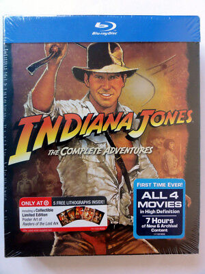 INDIANA JONES COMPLETE ADVENTURES Blu-ray 2012 5-Disc Target Exclusive VHTF NEW