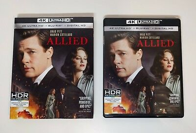 Allied - 4K UHD + Blu-ray w/ NM Slipcover *LIKE NEW* - No digital