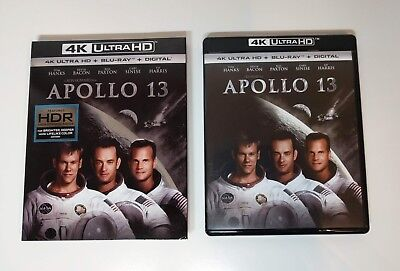 Apollo 13 - 4K UHD + Blu-ray w/ Slipcover *LIKE NEW* - No digital