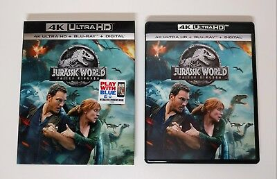 Jurassic World: Fallen Kingdom - 4K UHD + Blu-ray w/ NM Slipcover - No digital