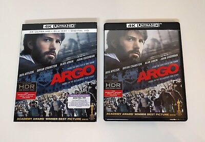 Argo - 4K UHD + Blu-ray w/ Slipcover *LIKE NEW* - No digital