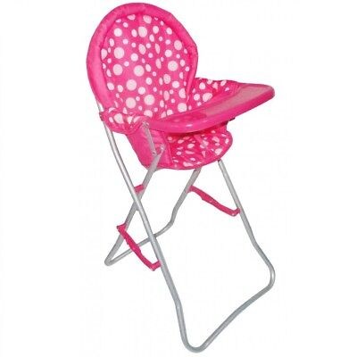 Dolls Highchair Pink Dots NEW