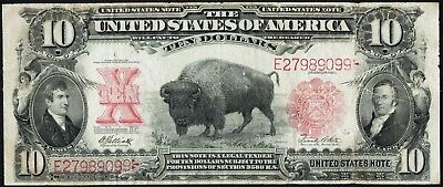 1901 $10 Bison Note - United States Note - FR#121