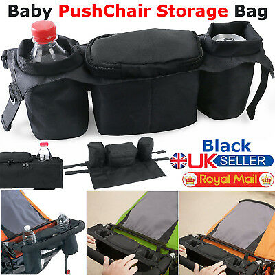 Baby Pushchair Pram Storage Bag Stroller Buggy Cup Food Bottle Holder Organiser