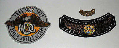 HOG 25 Jahre Harley Davidson Owners Group 2008 Aufnäher + Pin MC Kutte Jacke