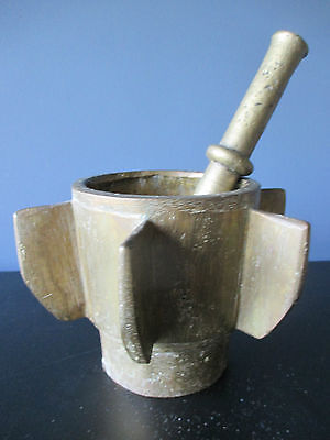 Mortar and Pestle 6 Vins Antique Bronze 17th century Spanish Apothecary