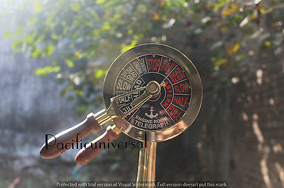 Nautical TELEGRAPH With Wooden Base Ship Engine Room New Year Best Gift Item.