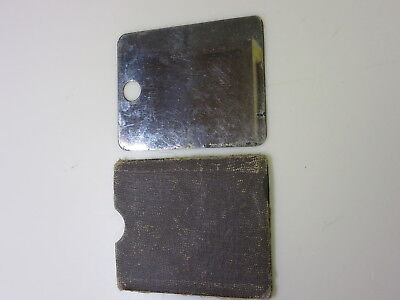 WWI Soldier's Two Sided Field Mirror In Case