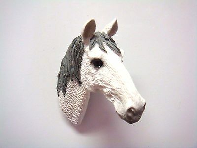 White  Horse Head Kitchen Refrigerator Magnet