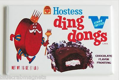 Hostess Ding Dongs FRIDGE MAGNET (2 x 3 inches) box chocolate snack cakes