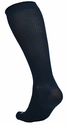 3 pair Ecosox Graduated Compression Socks  w/ Arch Support 9-11 Medium Black