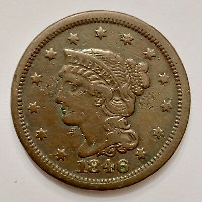 1816 & 1822 Coronet Large Cents; 1836, 1842 & 1846 Braided Hair Large Cents