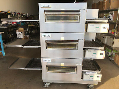 Lincoln 1132 Impinger Triple Deck Conveyor Pizza Oven Model 1132-002 in Electric