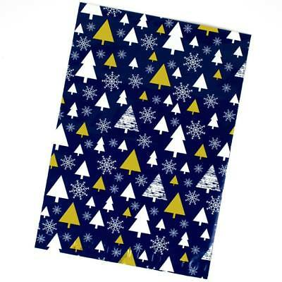 Gold Christmas Tree Designer Poly Mailers Shipping Envelopes Large Bags,14.5x19