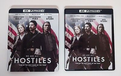 Hostiles - 4K UHD + Blu-ray (2-Disc) w/ Mint Slipcover *LIKE NEW* - No digital