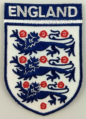 England FC Football Club Shield Patch Embroidered Iron On Applique UK Britain