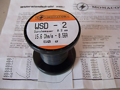 Widerstandsdraht MONACOR Ø 0,20 mm 15,6 Ohm/m Elektronik Labor Shunt  - Bastler