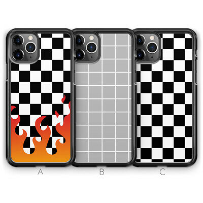 Check Checkered Grid Geometric Tumblr Phone Case for iPhone X XS Max XR 8 7 6 5
