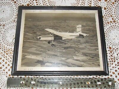 Vintage Historical Framed Airplane Photo #ed by Photographer 40-142,1950's NI87H