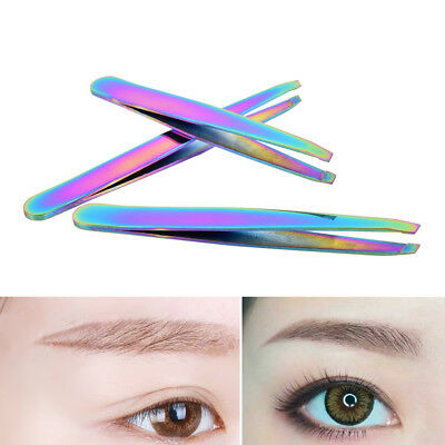 Colorful Hair Removal Eyebrow Tweezer Eye Brow Clips Beauty Makeup Tools HC RU