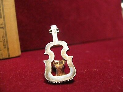 """3.9 grams 1.25""""  STERLING SILVER 925 MINIATURE instrument w/ tail piece"""