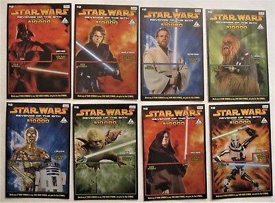 Star Wars Revenge of the Sith Instant SV Lottery Ticket Set Collector Cards RARE