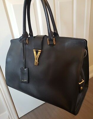 544b31fa91 SAINT LAURENT YSL Sac Ligne Y Bag (Black Calf Leather) - $1,420.24 ...