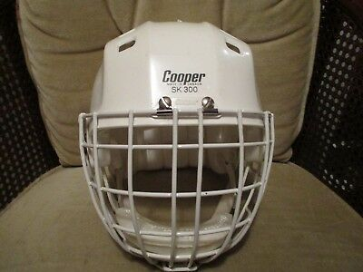 Vintage Hockey Helmet And Face Guard - Sk300 And Hm50