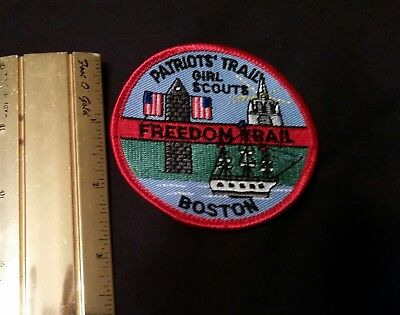 Girl Scout Patch Patriots Trail, Boston MA - Sew-on