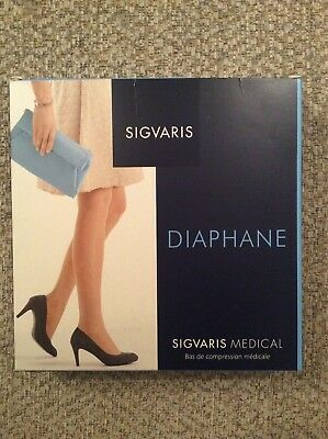 Sigvaris Diaphane Medical Compression Tights Natural Normal 15-20mmHg LARGE