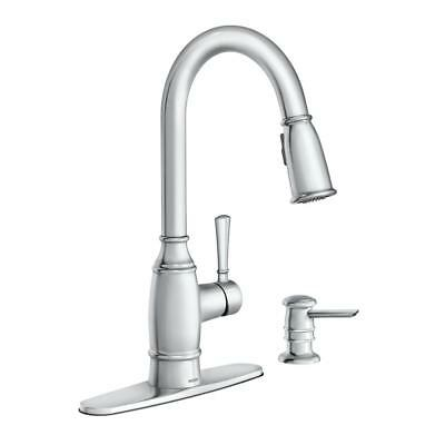 Moen Noell Single Handle Pull Down Sprayer Kitchen Faucet With Soap